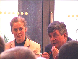 Discussion-round with Angela Grosse, MdB Dr. Hermann Scheer