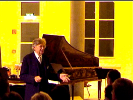 Prof. Beurmann introduces his cultural treasure - pianos and cembali from past centuries