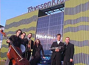 Members from Germany of our newly founded Jazz and enjoying solar energy at Thyssen